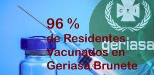 residentes vacunados contra el covid en geriasa